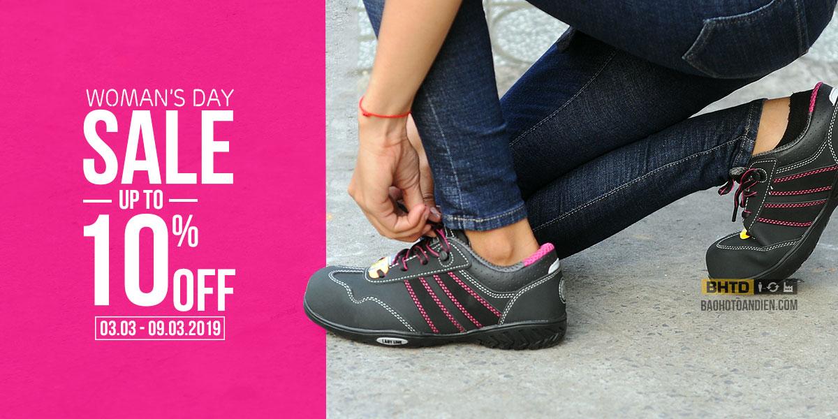 BHTD khuyến mãi 8/3 | SALE OFF 10% cho 5 mẫu giày bảo hộ nữ