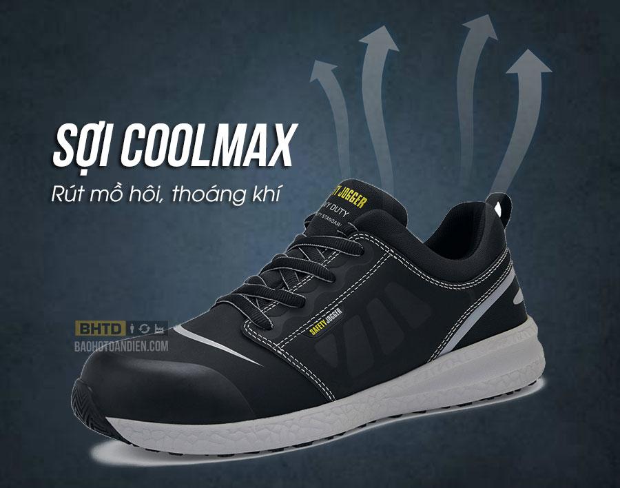 Giày bảo hộ thoáng khí nhờ lớp lót Coolmax
