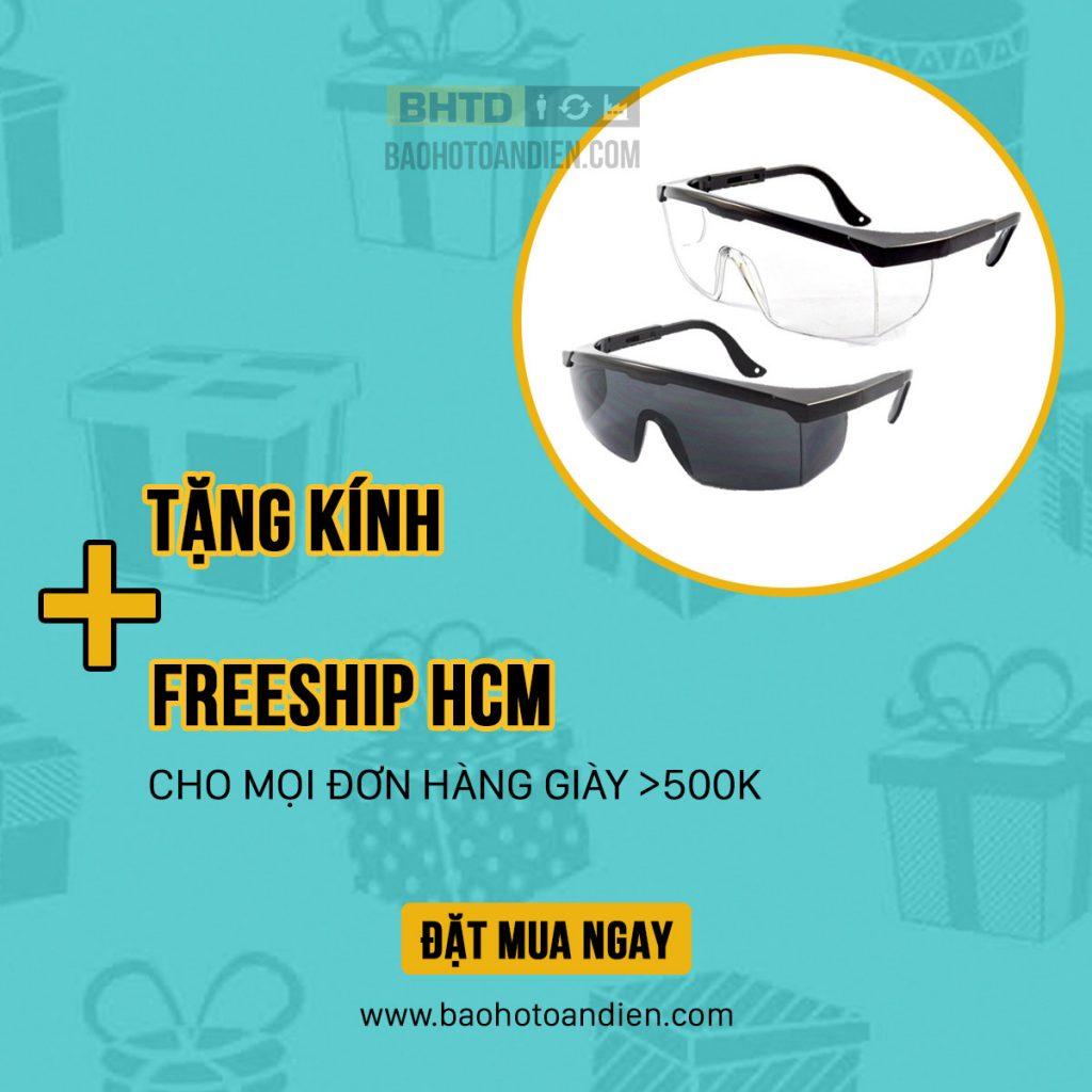Tặng kính và Freeship HCM cho mọi đơn hàng giày