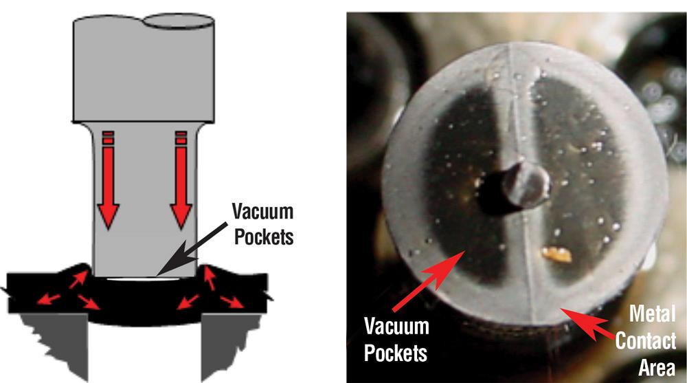 Ví dụ về rỗ bọt khí trên các sản phẩm đúc