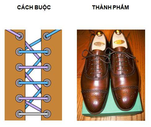 Cách xỏ dây giày 4 kiểu buộc thẳng Châu Âu