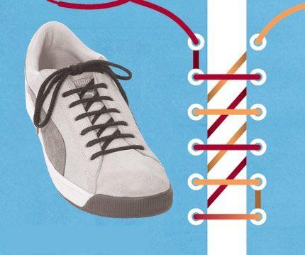 Cách thắt dây giày 8 kiểu cột dây giày răng cưa