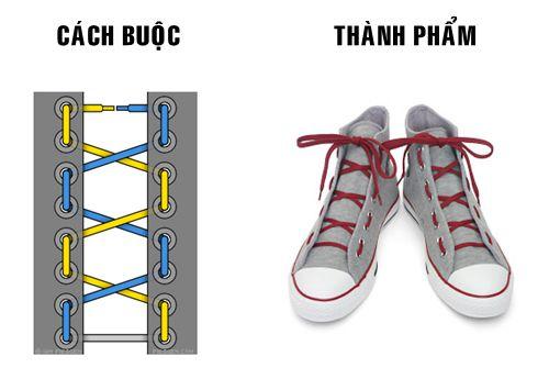 Cách buộc dây giày thể thao 9 kiểu cột dây giày phong cách quân đội