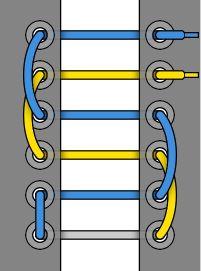 Cách xỏ dây giày giấu dây kiểu đi xe đạp