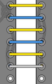 cách cột dây giày dấu dây kiểu 5