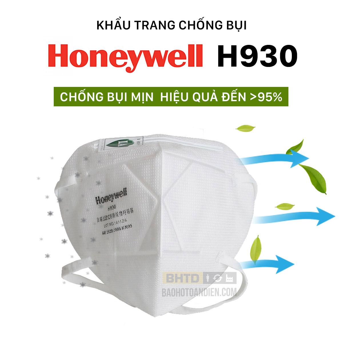 Khẩu trang chống bụi mịn Honeywell H930