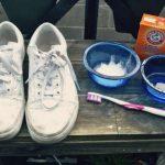 Cách giặt giày trắng với Baking soda và giấm trắng