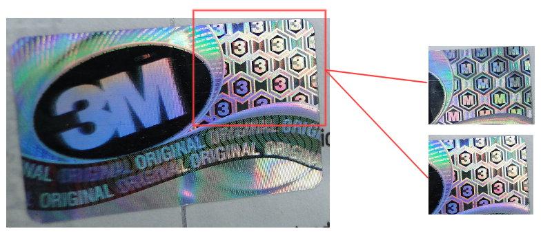 tem chống hàng giả của khẩu trang 3M