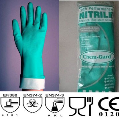 Găng tay cao su Nitrile chống hóa chất