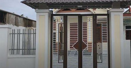 Mẫu cổng sắt 4 cánh đẹp