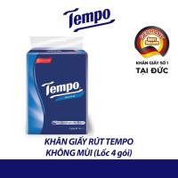Lốc 4 gói khăn giấy rút Tempo không mùi