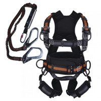 Bộ dây đai toàn thân chống sốc 2 móc thép Deltaplus