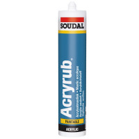 Keo silicone gốc acrylic Soudal Acryrub (trong nhà)