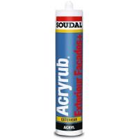 Keo silicone gốc acrylic Soudal Acryrub (ngoài trời)