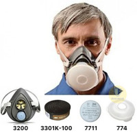 Bộ mặt nạ phòng độc 3M 3200 lọc bụi, lọc độc