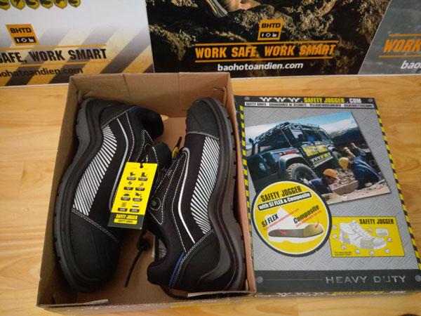 Đập hộp Giày Safety Jogger Dynamica mới cứng kèmvài gói hút ẩm nhỏ
