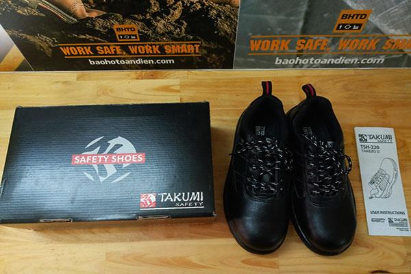 Đập hộp giày bảo hộ Takumi TSH-220 nào