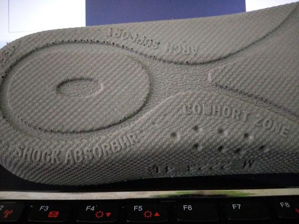 Mặt dưới tấm lót Jogger Impact Foam củagiày Safety Jogger Dynamica