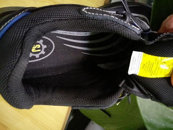 Mặt trong của giày Safety Jogger Dynamica làm bằng vải Coolmax cực thoáng khí
